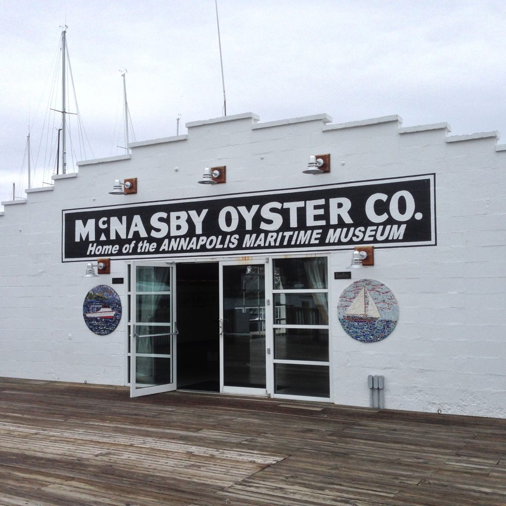 The Annapolis Maritime Museum was origianlly founded in 1986 as the Eastport Historical Society. It was renamed the Annapolis Maritime Museum in 2000. It is located inside the McNasby Oyster Packing Co. building.