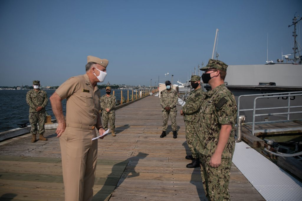 Waterfront readiness frocking ceremony (August 27, 2020)