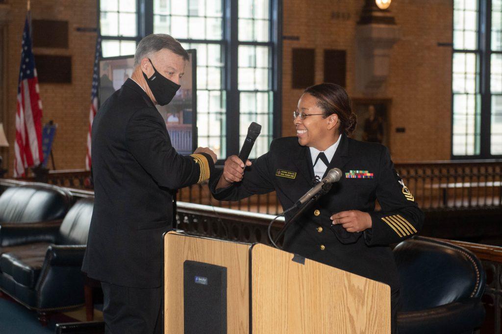 Sailor of the Quarter Ceremony. (November 13, 2020)