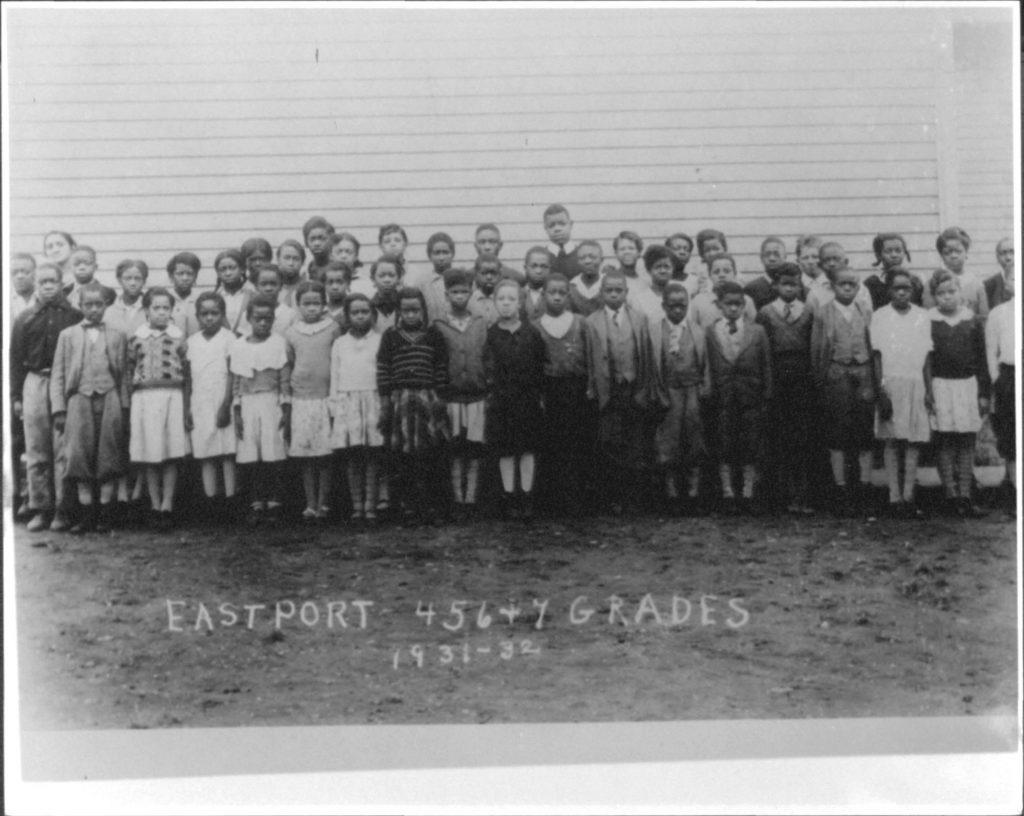 1931-1932 Unknown Eastport Elementary School, grades 4, 5, 6, and 7 of segregated black school Accession No.: MSA SC 2140-1-534 Location: 33/02/02/26