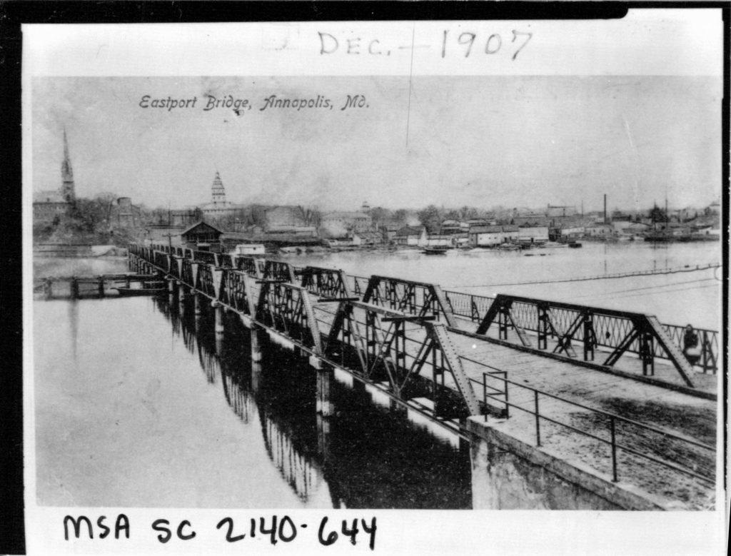 Unknown Eastport bridge and Annapolis. c.1910 Accession No.: MSA SC 2140-1-644 Location: 33/02/02/26