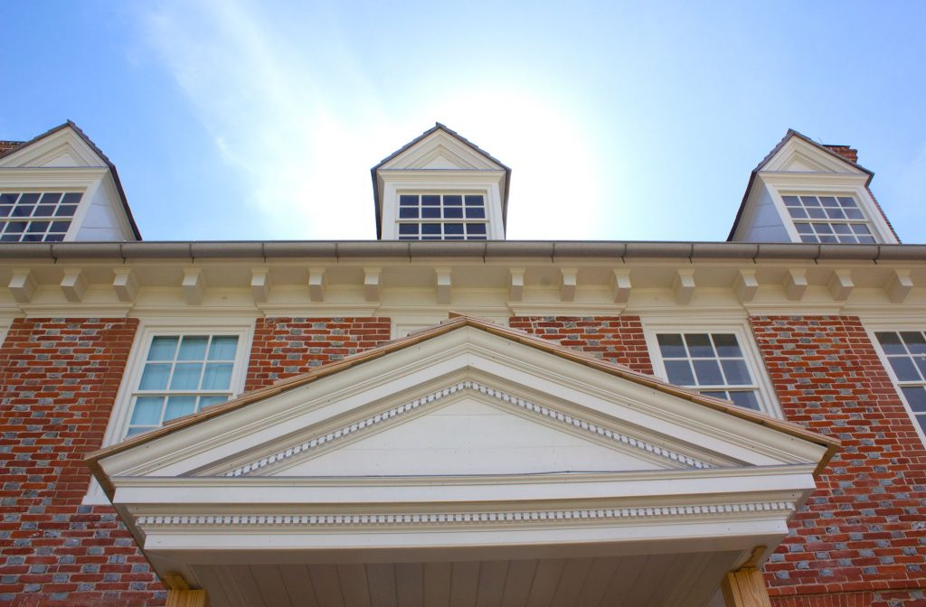 This modillion cornice is one of the earliest known domestic examples in the Chesapeake.
