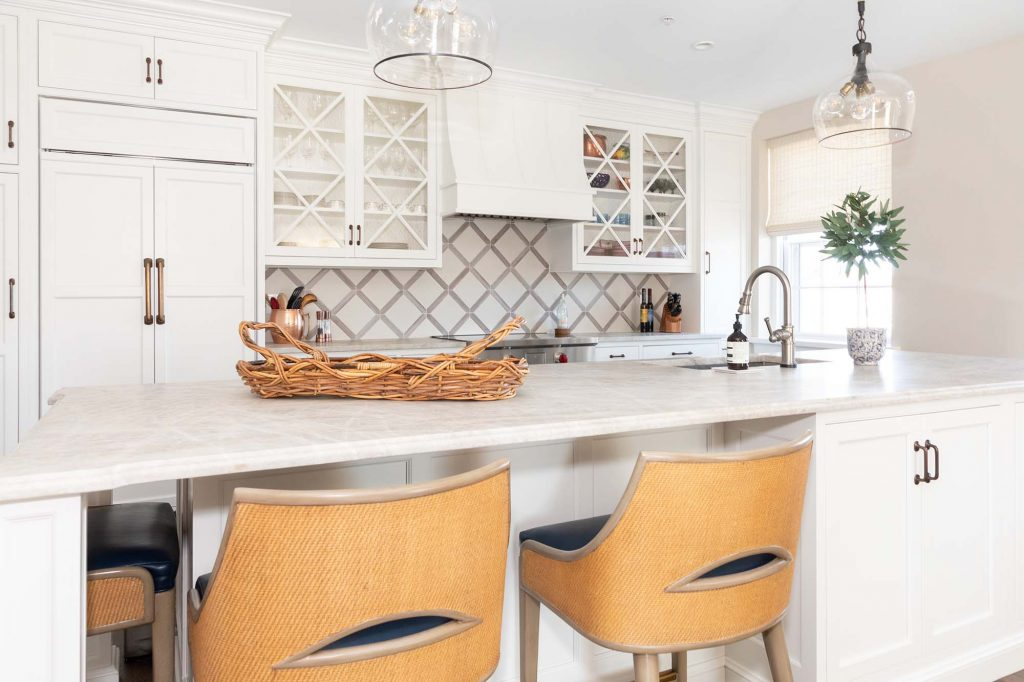 Unlike their old home, which was very traditional, this condo's style is a cross between transitional and contemporary.