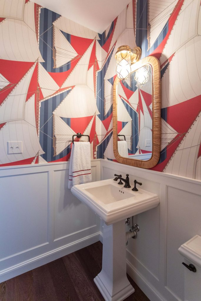Bold wallpaper always leaves an impression.