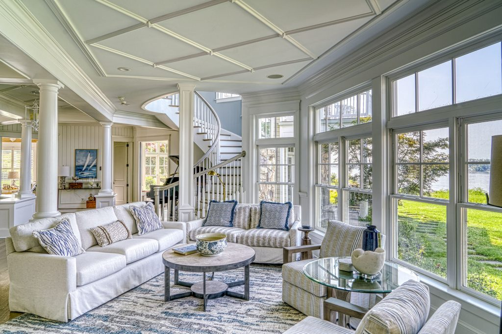 The transformation is complete: the former traditional Country French style home now has a relaxed coastal vibe.